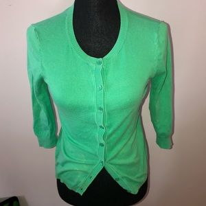 3 for $20 green button down cardigan small